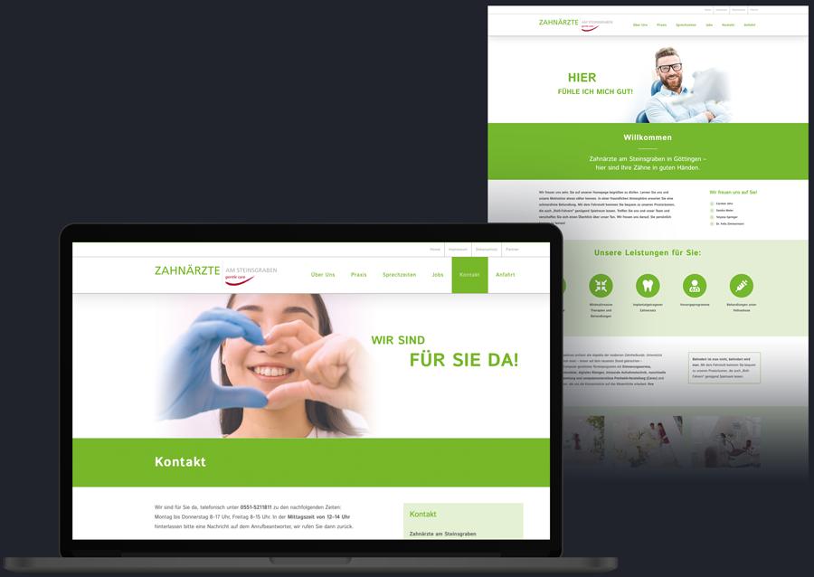 Website Homepage Zahnarzt Webdesign Webdesigner Arzt